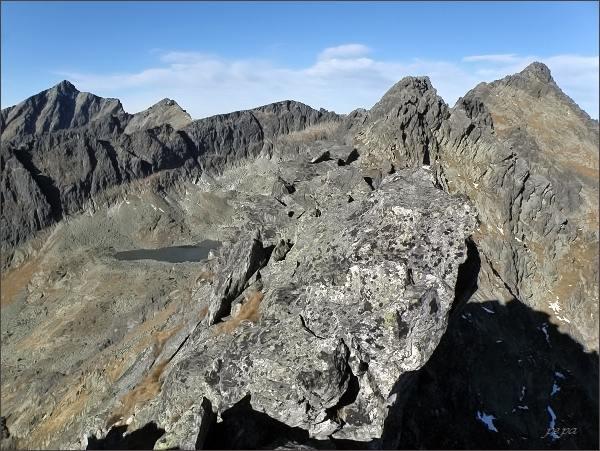 Soliskový hrebeň, Furkotská dolina, Ostrá, Krátka a Kriváň ze Štrbského Soliska