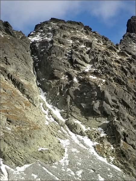 Malá Capia veža nad Mlynickou dolinou