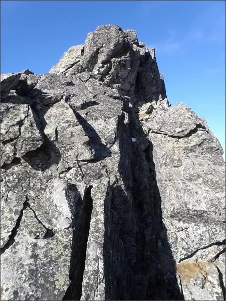 Malá Capia veža nad Vyšným Baštovým sedlom