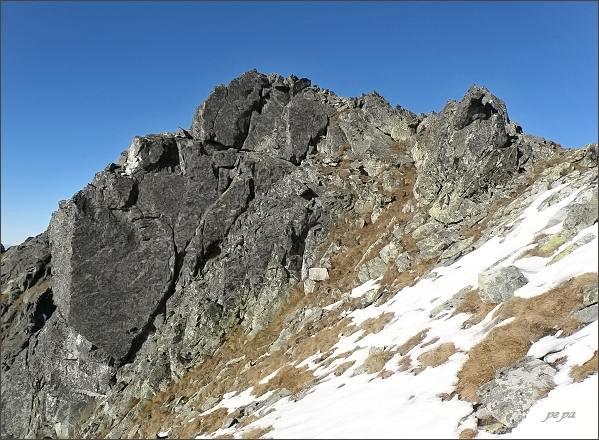 Severní vrchol Veľkej Capej veže
