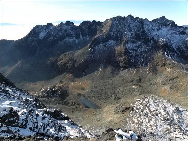 Mlynická dolina a Soliskový hrebeň ze Zadnej Bašty