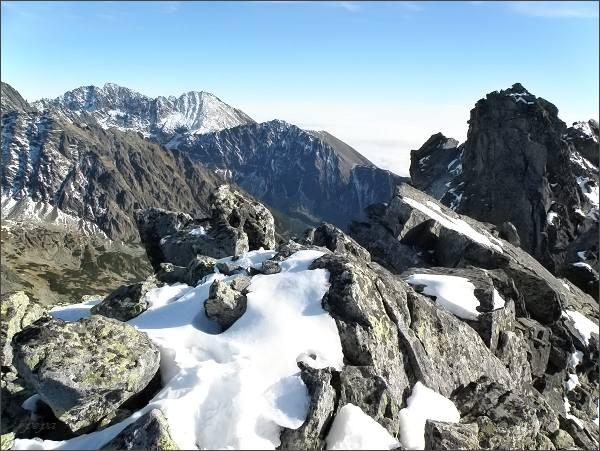 Na severním vrcholu Zadnej Bašty
