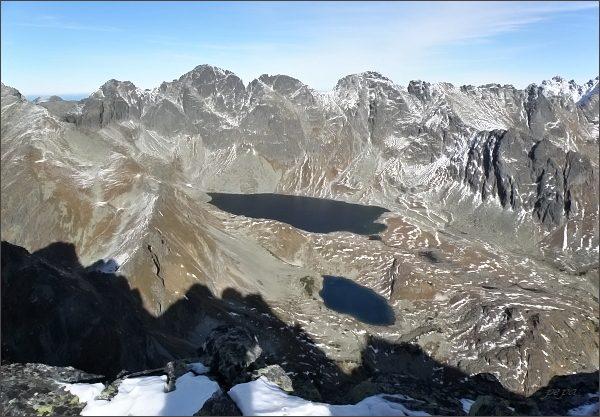 Hincova kotlina ze severního vrcholu Zadnej Bašty