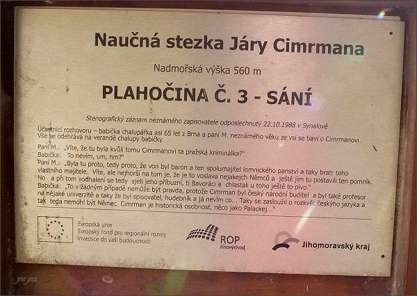 Naučná stezka Járy Cimrmana. Plahočina č. 3