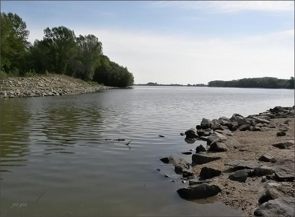 Spojení Veľkolélského ramene s Dunajem na východní části ostrova
