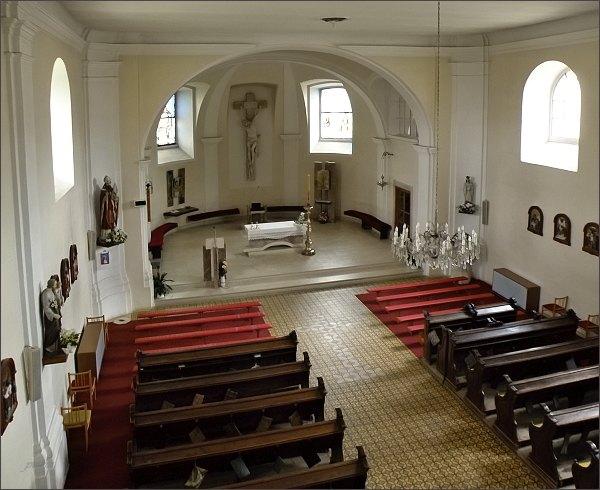 Interiér kostela sv. Martina v Blansku