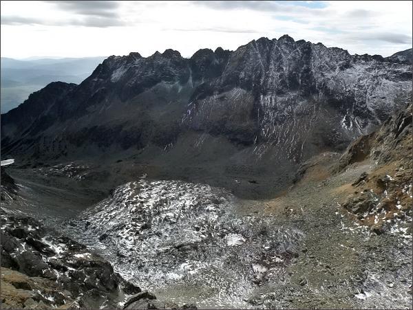 Mlynická dolina a Soliskový hrebeň z Veľkej Capej veže