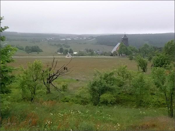 Cínovec. Pohled do Saska