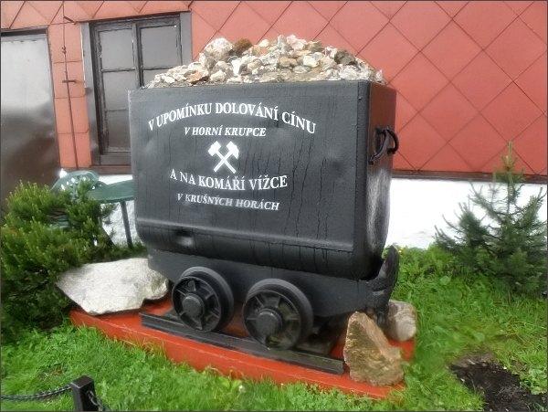 Originální připomenutí těžby cínu v Krupce a na Komáří vížce