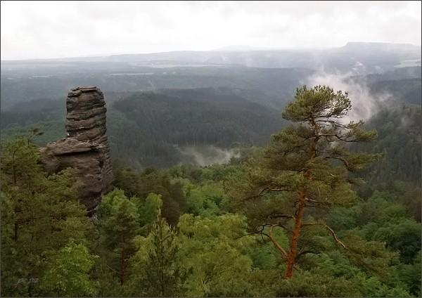 České Švýcarsko, Malý Pravčický kužel