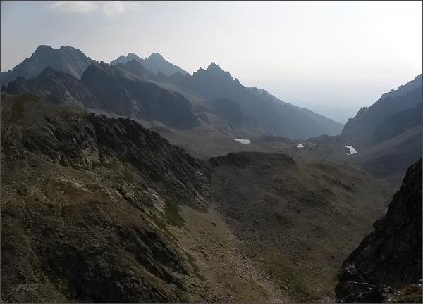 Divá veža, pohled do Veľkej Studenej doliny