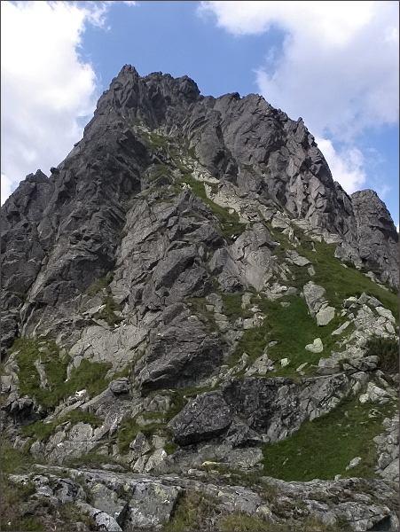 Vrcholové partie Hrubej veže (jihovýchod)