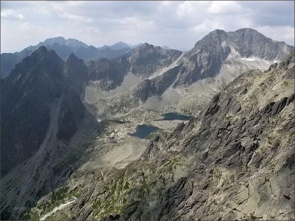 Malá Studená dolina z Lomnického štítu