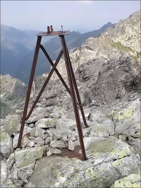Triangl na vrcholu Divej veže