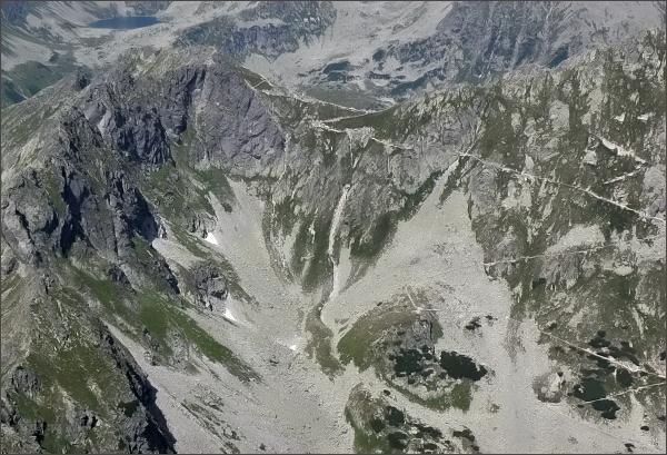 Hrubý štít a sedlo Szpiglasowa Przełęcz z Čubriny