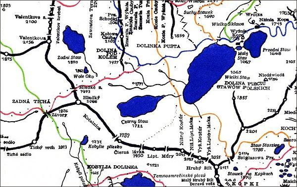 Hrubý štít, mapa