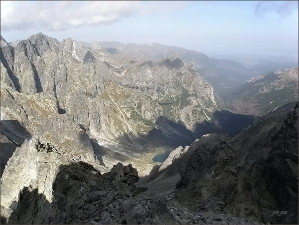 Kačacia a Bielovodská dolina zpod Zadného Gerlachu
