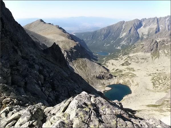 Dolina Zlomísk, Ľadové a Popradské pleso z Popradského Ľadového štítu