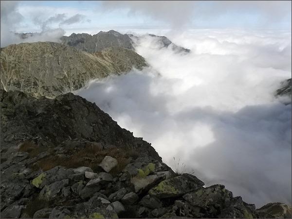 Východný Mengusovský štít, pohled k severu