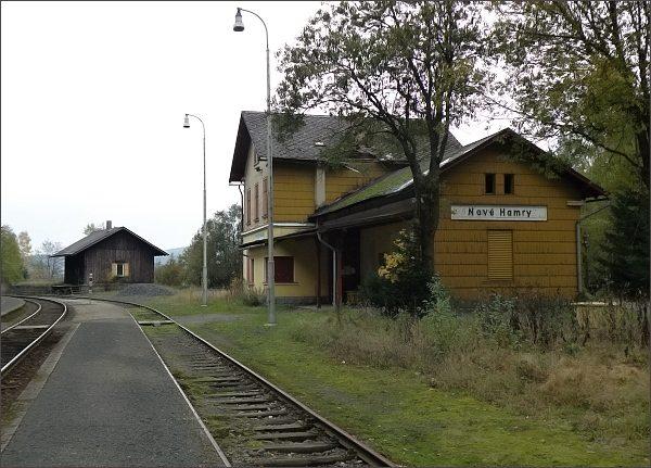 Nové Hamry, nádraží