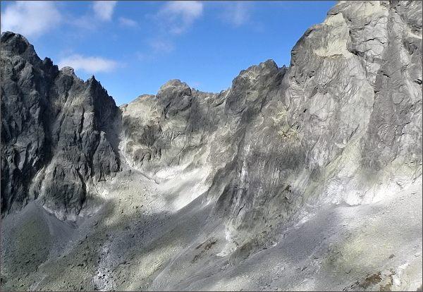 Veža nad Ľadovým plesom, Drúk, Sedlo pod Drúkom, Popradský Ľadový štít a Kačací štít z Kostolíka