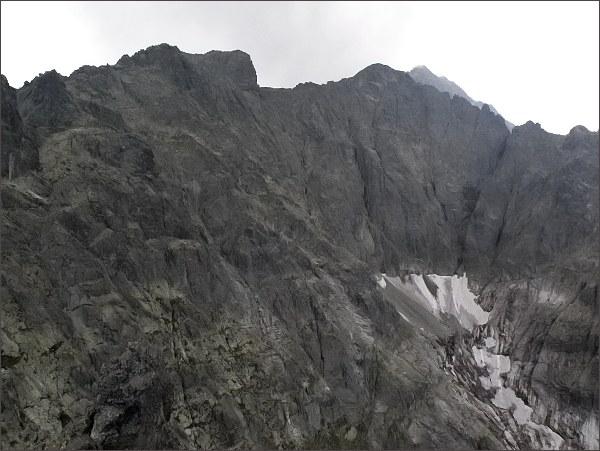 Snehová strážnica, Snehový štít, Zadný Ľadový štít a Ľadový štít z Prostrednej Snehovej veže