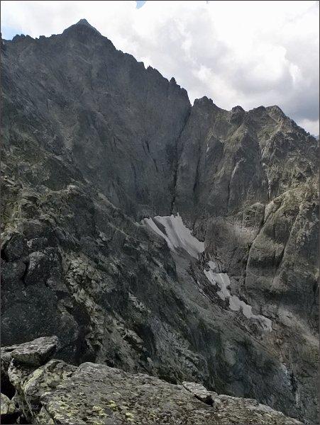 Závěr Ľadovej dolinky z Veľkej Snehovej veže