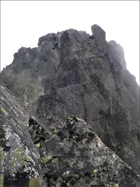 Na Malej Čiernej veži (uprostřed Prostredná Čierna veža)