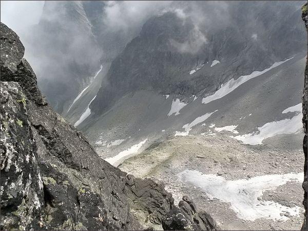 Čierne veže: pohled do Veľkej Zmrzlej doliny