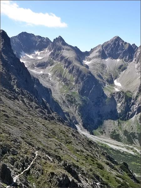 Čierny štít (uprostřed) od Sedla pod Svišťovkou