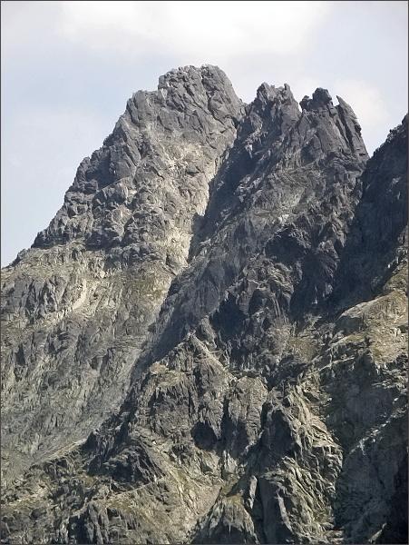 Čierny štít a Čierne veže ze Snehových veží