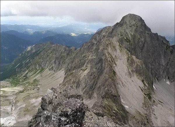 Kolový štít a Čierna Javorová dolina z Čierneho štítu