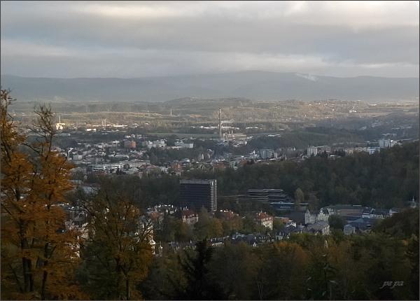 Karlovy Vary a Krušné hory od Diany