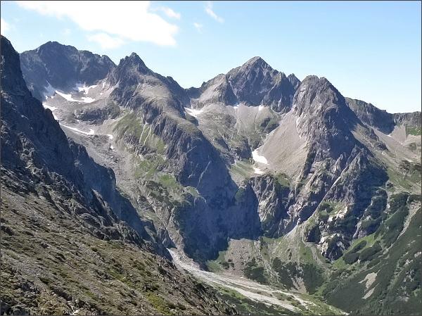 Baranie rohy, Čierny štít, Kolový štít a Karbunkulový hrebeň z Veľkej Svišťovky