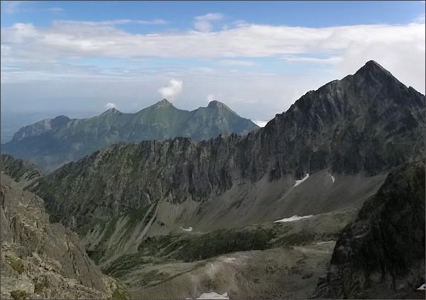 Kolový štít, Hrebeň Sviniek a Belianske Tatry ze Snehového štítu
