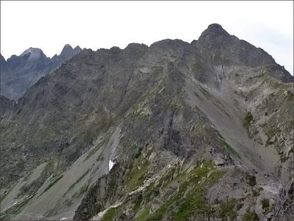 Kolový štít a Karbunkulový hrebeň z Jahňacieho štítu