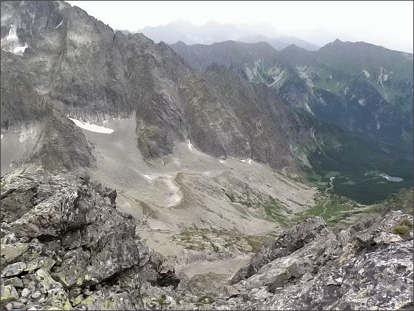 Čierna Javorová dolina z Kolového štítu