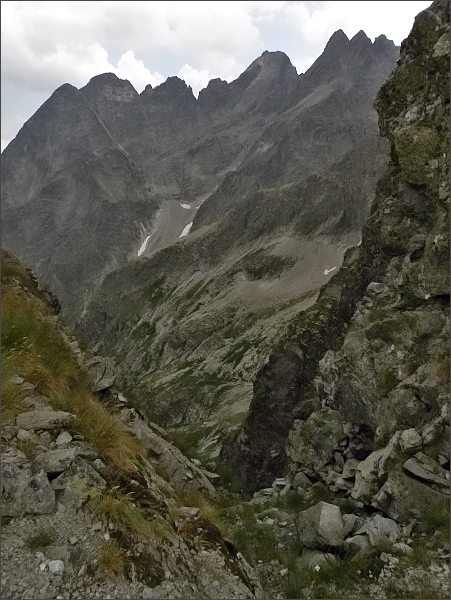 Hrebeň Lomnického štítu ze Zmrzlej veže