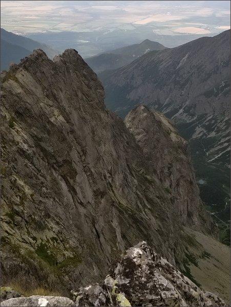 Kopiniaky a Jastrabia veža ze Zmrzlej veže