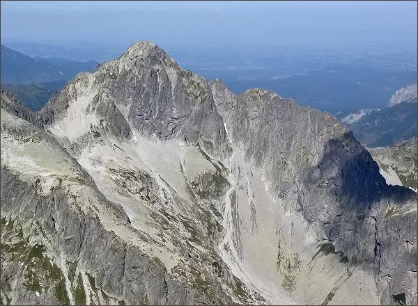Karbunkulový hrebeň a Kolový štít z Malého Kežmarského štítu