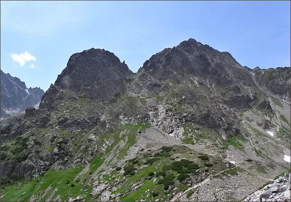Jastrabia veža a Karbunkulový hrebeň z Kozieho štítu