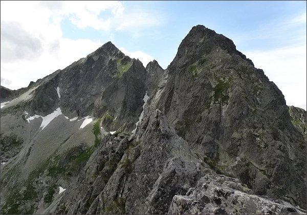 Karbunkulový hrebeň, Zmrzlá veža a Kolový štít z Jastrabej veže