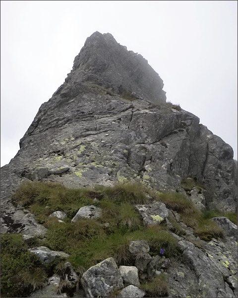 Malý Kolový štít nad Zadnou Karbunkulovou štrbinou