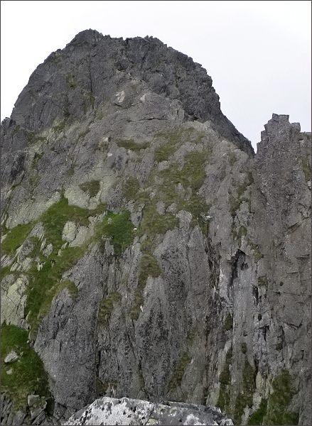 Predný Kopiniak z výšvihu nad Jastrabím sedlom
