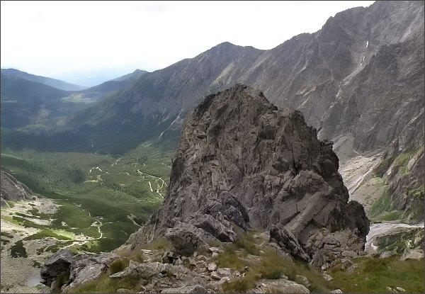 Jastrabia veža z výšvihu Predného Kopiniaku