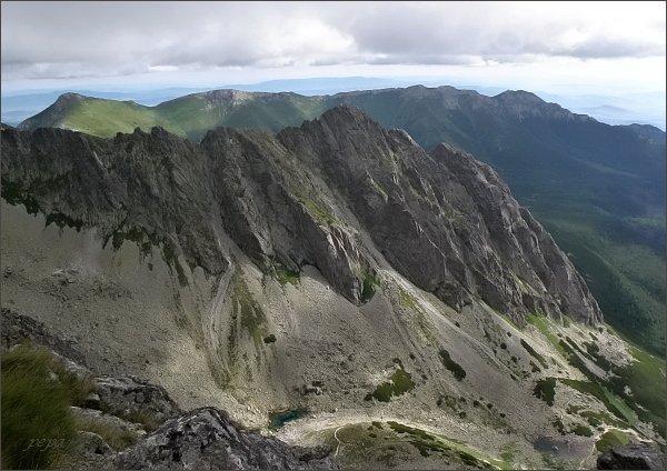 Červená dolina a Kozí štít z Predného Kopiniaku