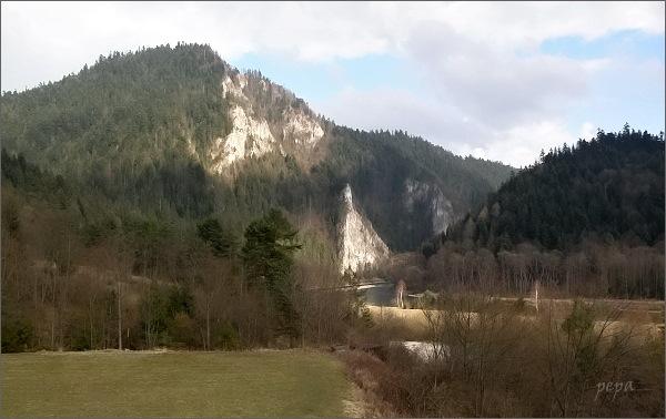 Sromowce Niżne: Pohled na Prielom Dunajca