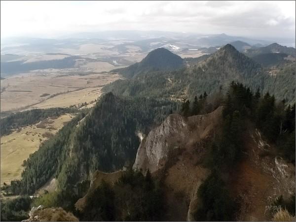 Pohled z Trzech Koron k západu