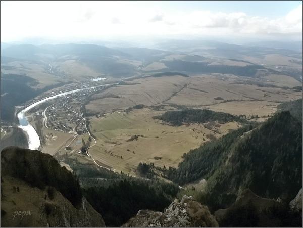 Sromowce Niżne a Dunajec z Trzech Koron