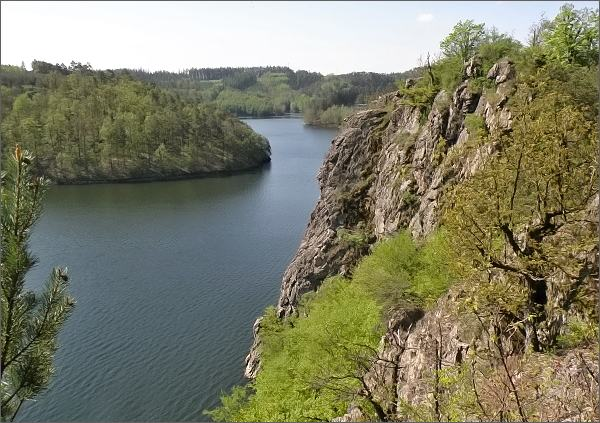 Dalešická přehrada, Wilsonova skála